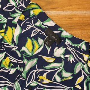 3/$30 HALOGEN Floral Blue and Yellow Top
